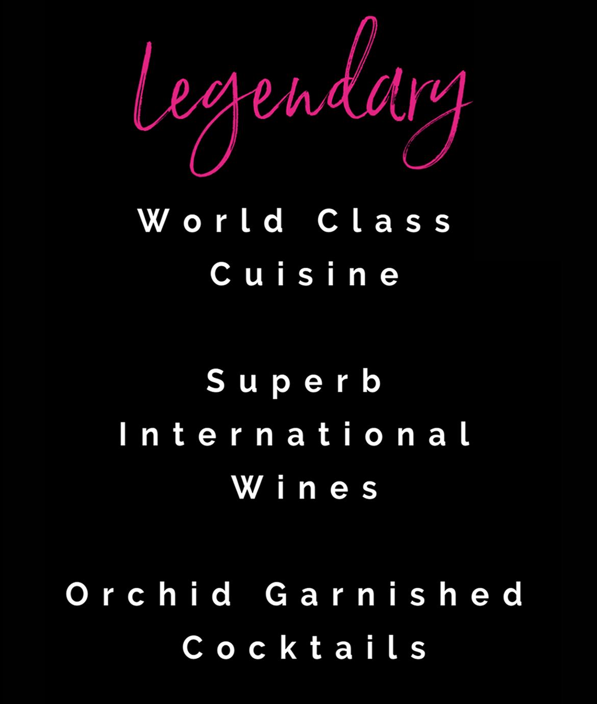 Legendary World Class Cuisine At Ziggies