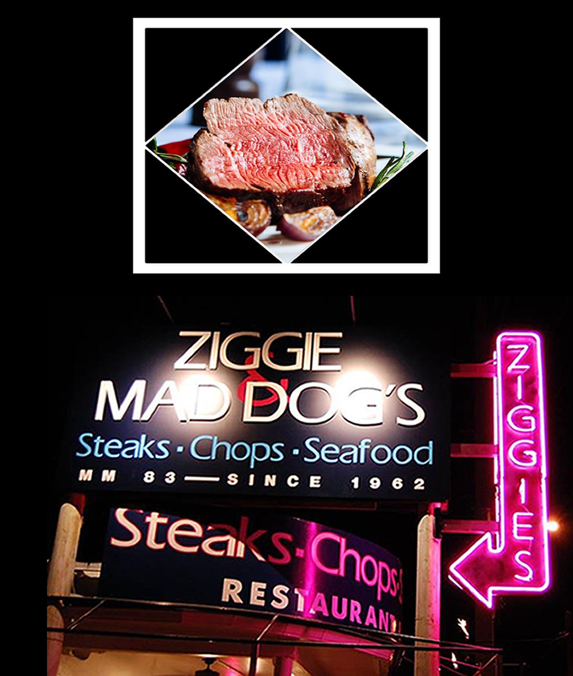 Ziggie & Mad Dog's 5 Star Steaks In The Florida Keys